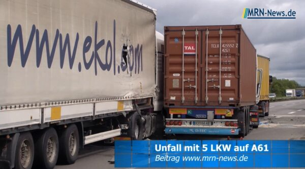 Ludwigshafen – VIDEO-NACHTRAG: Schwerer LKW Unfall auf der #A61