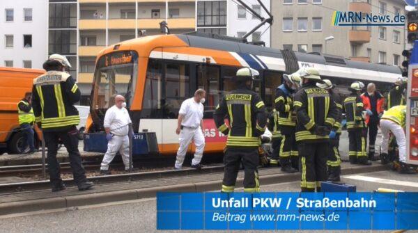 Ludwigshafen – VIDEO NACHTRAG – PKW kollidiert mit Straßenbahn in der Saarlandstraße