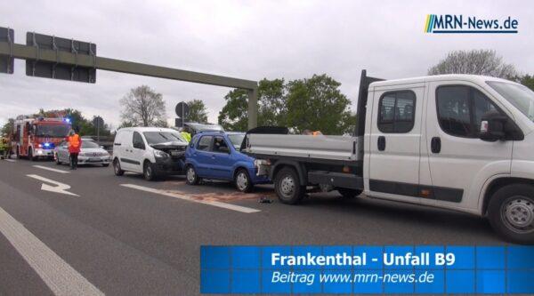 Frankenthal – VIDEO NACHTRAG – Zwei verletzte Personen bei Unfall B9