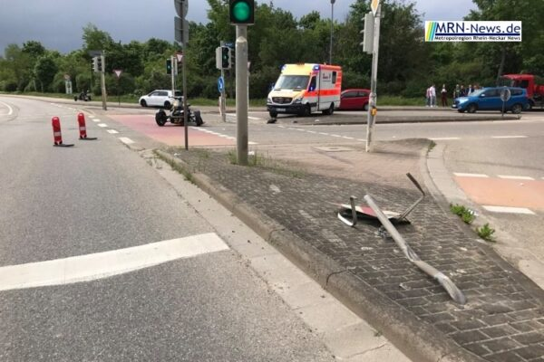 Ludwigshafen – Unfall mit Can-Am Trike in Maudach – Fahrer verletzt