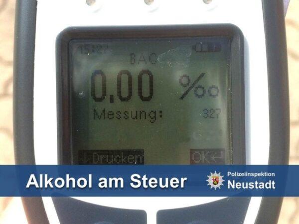 Neustadt –  Sturzbetrunken über die #A65