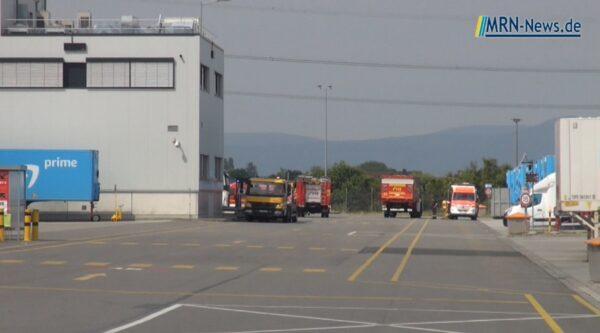Frankenthal – VIDEO NACHTRAG – Arbeitsunfall fordert Feuerwehreinsatz bei Amazon