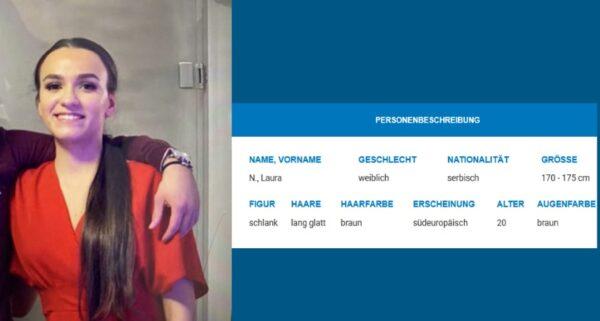Mannheim / Freudenstadt / Offenburg – Öffentlichkeitsfahndung: 20-Jährige Laura N. vermisst