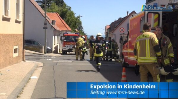 Landkreis Bad Dürkheim – VIDEO NACHTRAG – Explosion in Kindenheim – Rettungshubschrauber im Einsatz