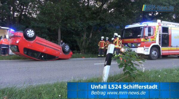 Rhein-Pfalz-Kreis – VIDEO ERSTMELDUNG – Unfall auf der L524 zwischen Schifferstadt und Mutterstadt