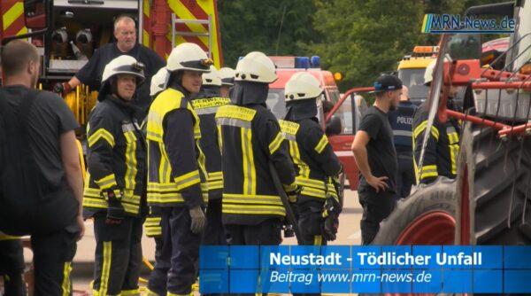 Neustadt a. d. Weinstraße – VIDEO NACHTRAG – Tödlicher Verkehrsunfall auf B39 Lachen-Speyerdorf