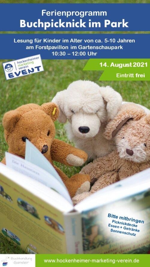 Hockenheim – HMV: Buchpicknick im Park am 14. August ab 10.30 Uhr!!