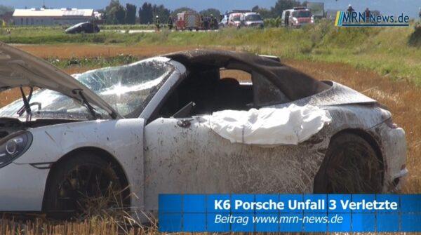 Südliche Weinstraße / Edenkoben – VIDEO – Porsche überschlägt sich – 2 Erwachsene und Kleinkind schwerverletzt