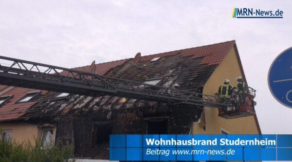 Frankenthal – VIDEO NACHTRAG – Wohnhausbrand in Studernheim
