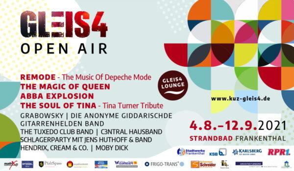 Frankenthal – Gleis4 OpenAir am Freitag 06.08.2021 – ABBA Explosion – DIE ABBA Tribute Show