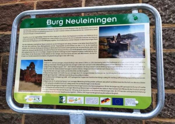 Grünstadt – Neue Infotafeln für die Burgen im Leiningerland