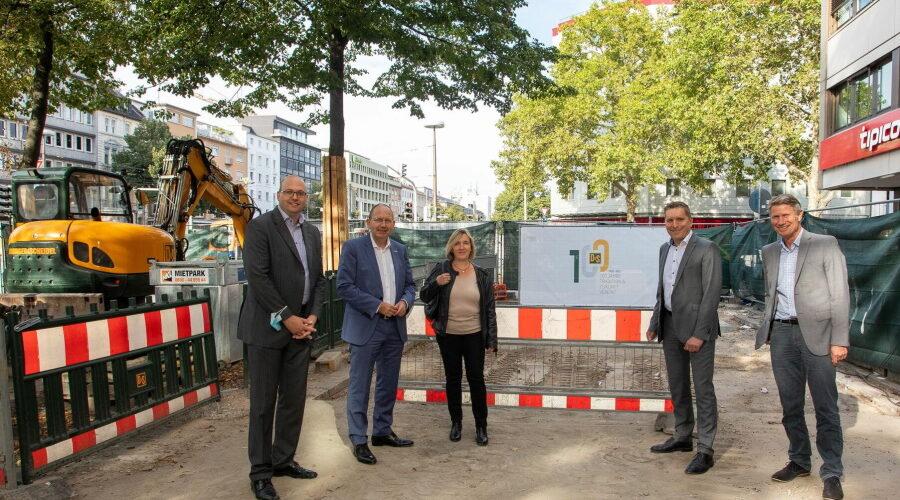 Mannheim – Umgestaltung des Mannheimer Bahnhofsvorplatzes: Verfüllung der Borelly-Grotte abgeschlossen