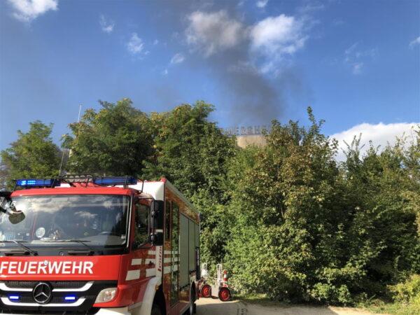 Germersheim – Brand in der alten Schiffswerft