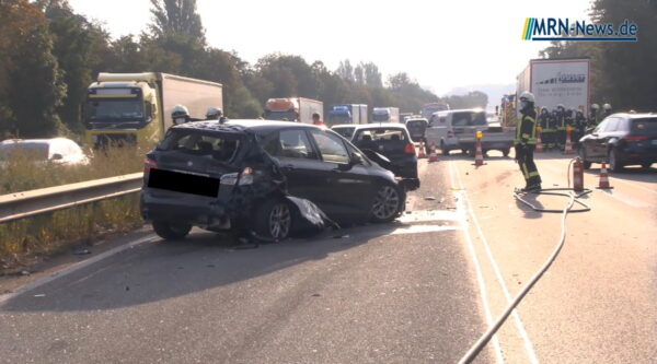 Speyer / Hockenheim – VIDEO – A 61: Bilanz Verkehrsunfälle mit mehreren beteiligten PKWs und LKWs