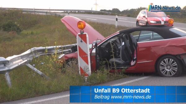 Rhein-Pfalz-Kreis – VIDEO – Unfall B9 Ausfahrt Otterstadt – Kleinkind blieb unverletzt – 90 000 € Sachschaden