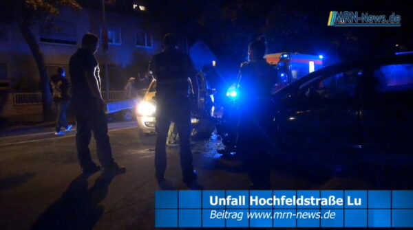 Ludwigshafen – VIDEO – Zwei Verletzte bei Unfall in der Hochfeldstraße