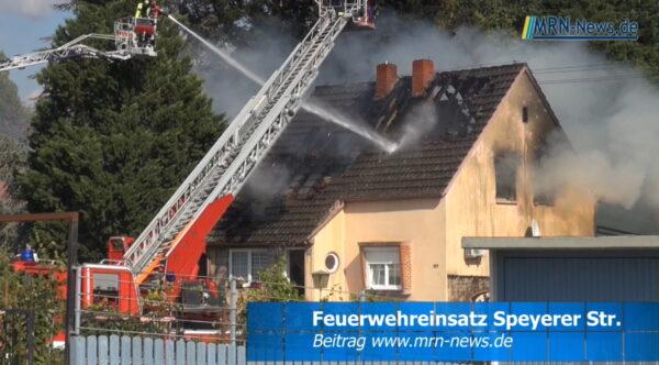 Ludwigshafen – VIDEO NACHTRAG – Wohnhausbrand – Speyerer Straße für den Verkehr wieder freigegeben