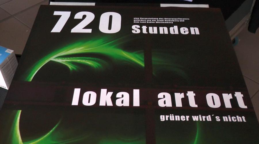 """Heidelberg – Vernissage von """"720 Stunden – grüner wird's nicht"""" – Local Art Ort 21 – Kunstgenuss noch bis 24. Oktober – VIDEO"""