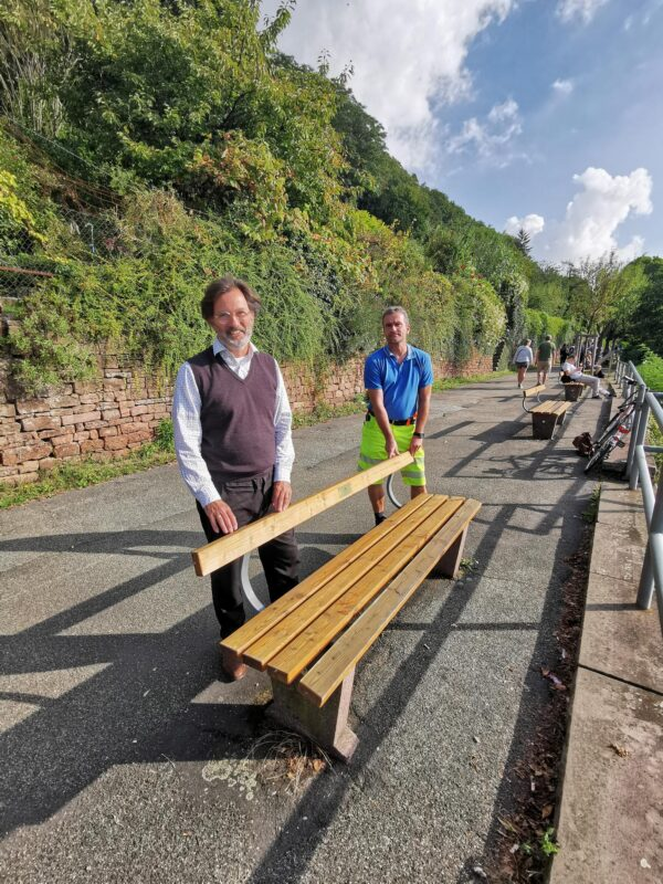 Heidelberg – Vandalismus am Philosophenweg: Bürgerstiftung spendete Geld für die Erneuerung von Parkbänken