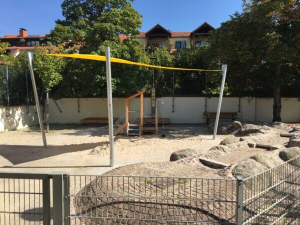 Heidelberg – Neue Spielgeräte auf dem Spielplatz Untere Neckarstraße