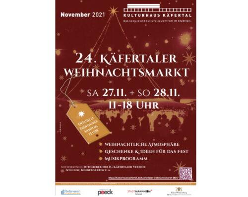 Mannheim – 24. Weihnachtsmarkt im Kulturhaus Käfertal am 27. und 28.11.
