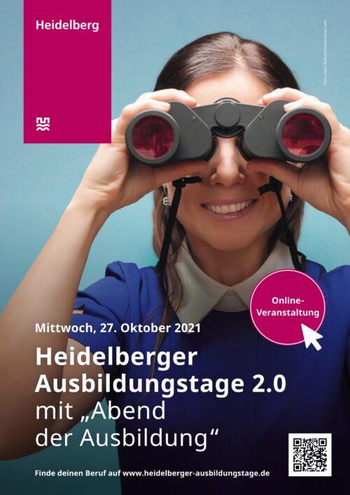 Heidelberg – Ausbildungstage am 27. Oktober im digitalen Format! Mehr als 40 Betriebe stellen sich und ihre Angebote vor – Abend der Ausbildung ab 18.30 Uhr