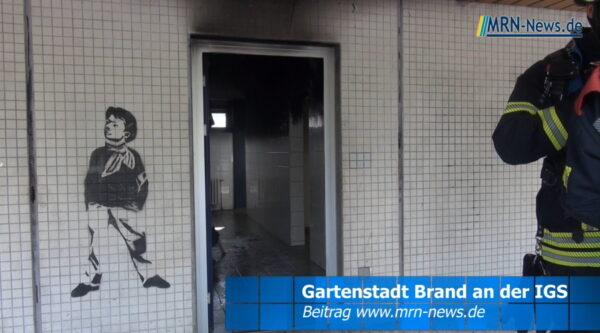 Ludwigshafen – VIDEO – Brand an der IGS Gartenstadt – Polizei ermittelt wegen Brandstiftung