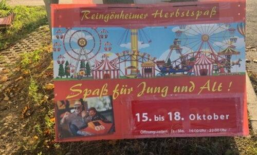 Ludwigshafen – Rheingönheim:  Herbstspaß der Schausteller geht in die letzte Runde  15. bis 18. Oktober 2021