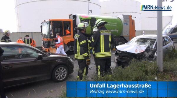Ludwigshafen – VIDEO NACHTRAG – Frontalzusammenstoß – Vollsperrung Lagerhausstraße aufgehoben