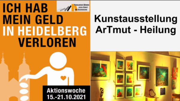 "Heidelberg – Kunstausstellung ""ArTmut – Heilung"" bis zum 30. November in der St. Bonifatiuskirche – Aktionswoche gegen Armut 2021 – VIDEO"