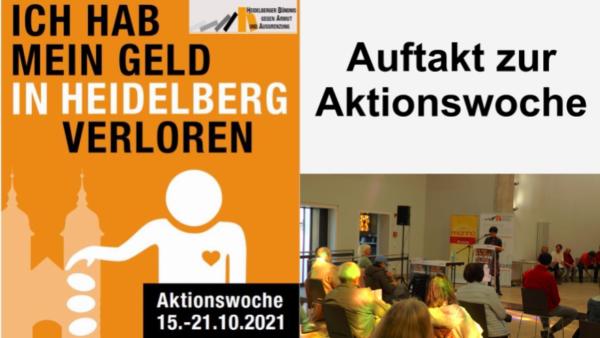 Heidelberg – Auftakt der Aktionswoche gegen Armut des Heidelberger Bündnis – VIDEO