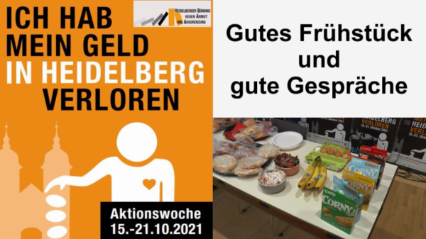 Heidelberg – Gutes Frühstück und gute Gespräche – Aktionswoche gegen Armut 2021 – VIDEO