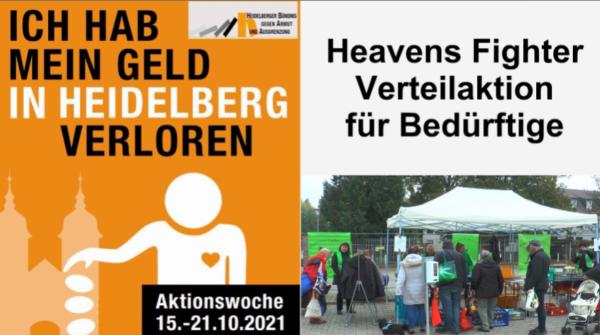 Heidelberg – Verteilaktion des Heavens Fighter e.V. für Bedürftige bei der Heidelberger Aktionswoche gegen Armut 2021 – VIDEO